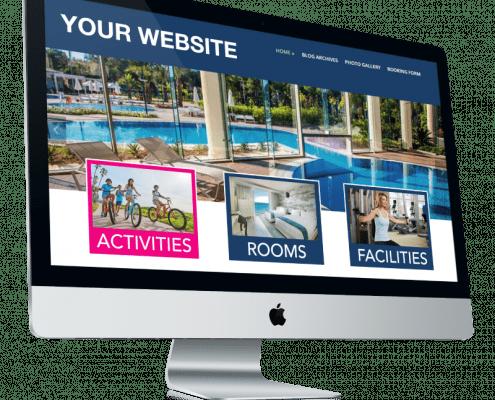 Accommodatie website met Holli-Web activiteiten
