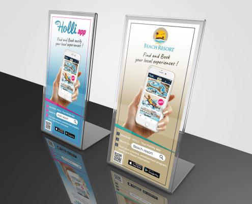 Promo Print app promoting displays