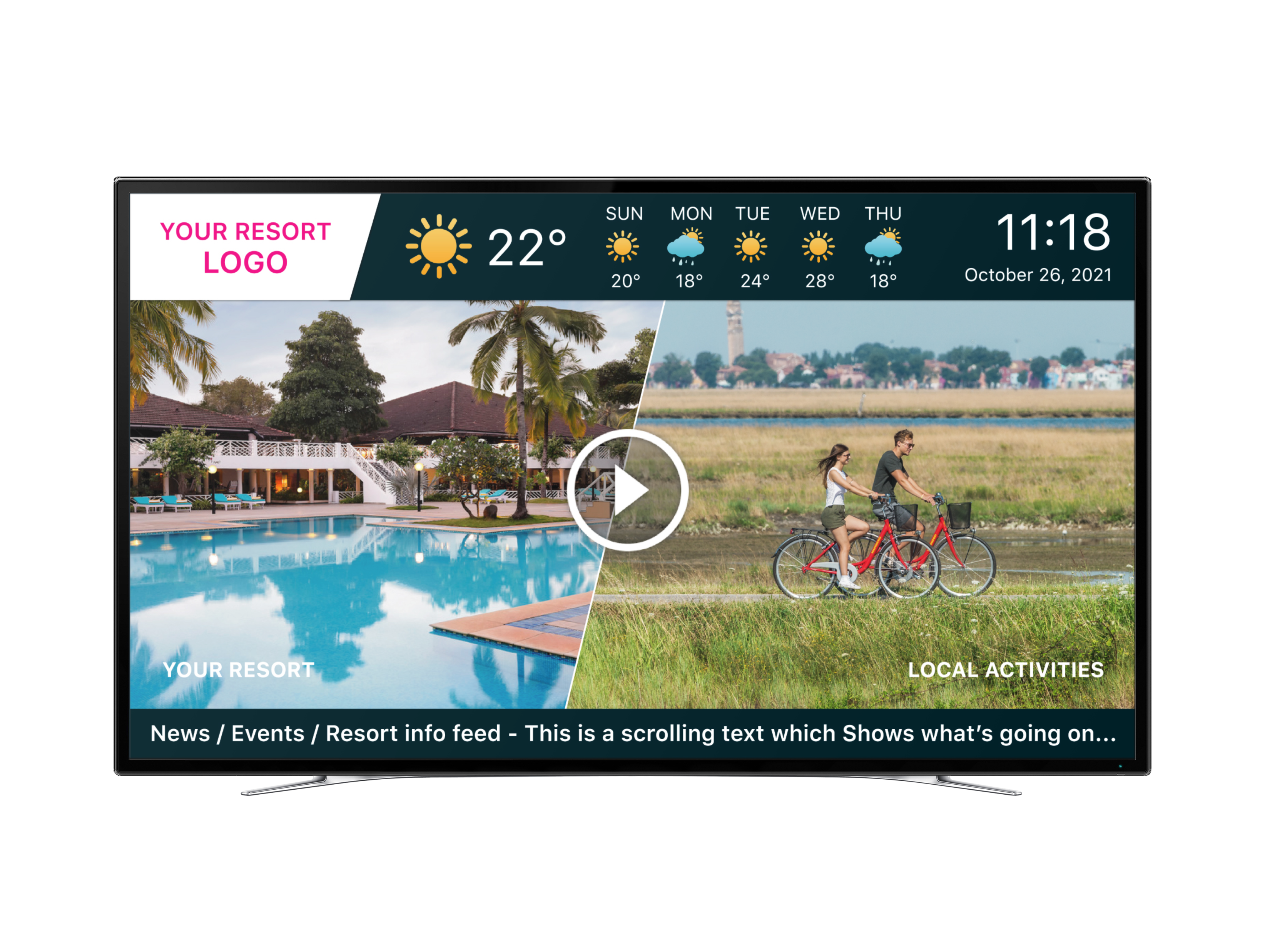 TV with all Holli-V features in one screen