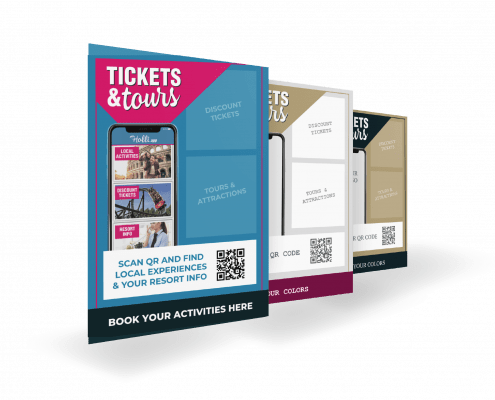 Tickets & Tours posters to stimulate app downloads and promote local activities