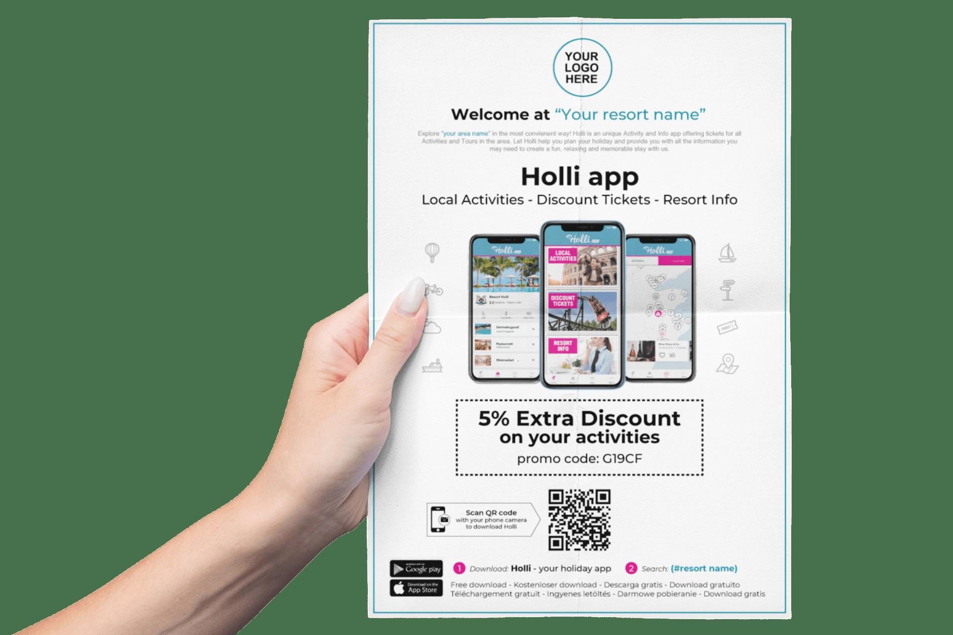 Holli-App promotion credits voucher