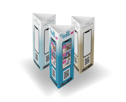 Promo-print tri-fold table tents, another example of Promo-Print